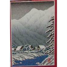 Shien: Village in Snowy Valley - Japanese Art Open Database