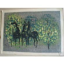 Shima Tamami — 島 珠実: Unknown- three horses - Japanese Art Open Database