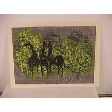 Shima Tamami — 島 珠実: Unknown- three horses - Japanese Art Open Database