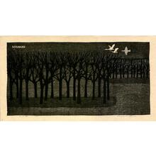 Shima Tamami — 島 珠実: Winter Forest — 冬の林 - Japanese Art Open Database