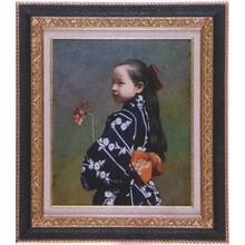 Shimizu Etsuo: Young Girl - 1 — 少女 - Japanese Art Open Database