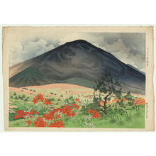 Ito Shinsui: A Field of Azalea in the Early Summer - Japanese Art Open Database