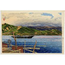 Ito Shinsui: Sunset Glow at Ajiro - Japanese Art Open Database