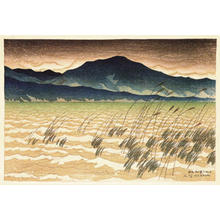 伊東深水: Evening Snow at Hira - Japanese Art Open Database