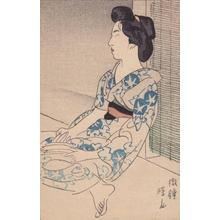 Ito Shinsui: A Nap — 微睡 - Japanese Art Open Database