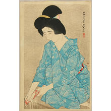 Ito Shinsui: After bath- Yokugo — Yokugo - Japanese Art Open Database