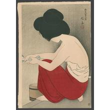 伊東深水: After the Bath - Japanese Art Open Database