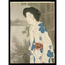 伊東深水: Bijin in Kimono- kuchie - Japanese Art Open Database
