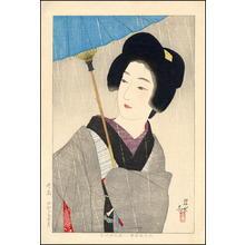 伊東深水: Drizzling Rain - Japanese Art Open Database