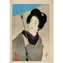 Ito Shinsui: Drizzling Rain - Japanese Art Open Database