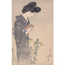 Ito Shinsui: Evening primrose — 月見草 - Japanese Art Open Database