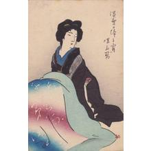 Ito Shinsui: Evening with Light Snowfall — 淡雪の降る宵 - Japanese Art Open Database