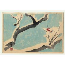 伊東深水: Plum in Snow - Japanese Art Open Database