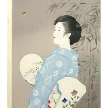 伊東深水: Hotaru- Firefly — 蛍 - Japanese Art Open Database