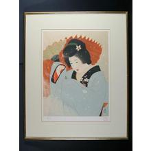 Ito Shinsui: In the Snow- Lithograph — 雪の中 - Japanese Art Open Database