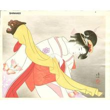 Ito Shinsui: Kagamijishi - Dance - Japanese Art Open Database