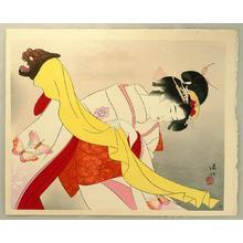 Ito Shinsui: Kagamijishi - Dance - Japanese Art Open Database