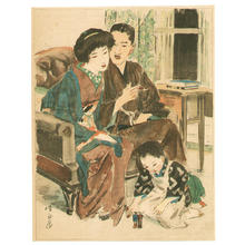 Ito Shinsui: Living Room - Japanese Art Open Database