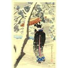 伊東深水: Shrine in Snow - Japanese Art Open Database