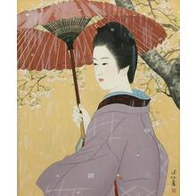 Ito Shinsui: Spring Rain — 春雨 - Japanese Art Open Database