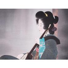 伊東深水: Strumming — 爪びき - Japanese Art Open Database