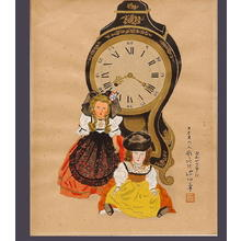 伊東深水: Swiss Doll and Clock — スイスの人形と時計 - Japanese Art Open Database