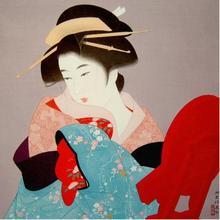 伊東深水: Three Thousand Years — 三千歳 - Japanese Art Open Database