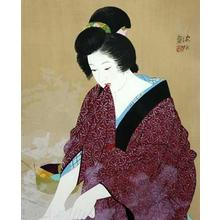 Ito Shinsui: Vapour — 湯気 - Japanese Art Open Database