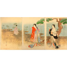 Shodo Yasuda: Picture of Murasame and Matsukaze in the old days - Japanese Art Open Database