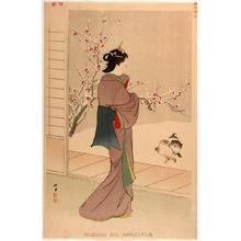 Shodo Yukawa: Merchant's wife in the Kyoho era (1716-36) — Kyoho nenkan choka no fujin - Japanese Art Open Database