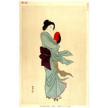Shodo Yukawa: Woman in Tokyo after Meiji 30 - 1897 — Meiji sanju-nen go Tokyo no fujin - Japanese Art Open Database