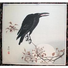 Shoson Ohara: Crow and Moon - Japanese Art Open Database