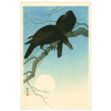Shoson Ohara: Crows in Moonlight - Japanese Art Open Database
