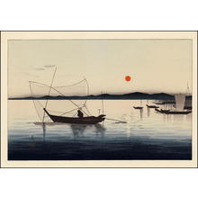 Shoson Ohara: Fishing Boats 1 - Japanese Art Open Database