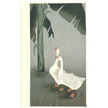 Shoson Ohara: Geese and Banana Tree - Japanese Art Open Database