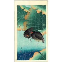 Shoson Ohara: Moorehens in the Rain - Japanese Art Open Database