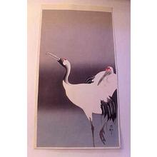 Shoson Ohara: Pair of Cranes - Japanese Art Open Database