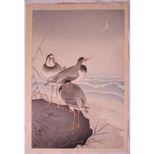 Shoson Ohara: Three Plovers - Japanese Art Open Database