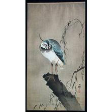 Shoson Ohara: Unknown, bird perched on broken tree - Japanese Art Open Database