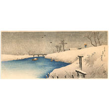 Shotei Takahashi: Ayasegawa in snow - Japanese Art Open Database