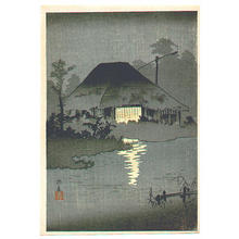 Shotei Takahashi: C17- Night Scene at Itako - Japanese Art Open Database