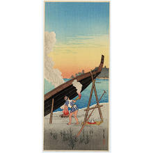 Shotei Takahashi: Evening Calm at Shinagawa - Japanese Art Open Database