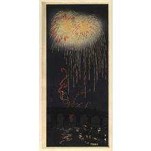 Shotei Takahashi: Fireworks at Ryogoku - Japanese Art Open Database