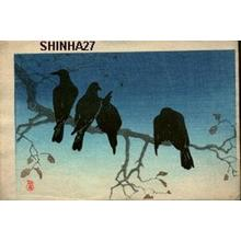Shotei Takahashi: Four Crows - Japanese Art Open Database
