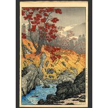 Shotei Takahashi: Gamman-ga-Fuchi in Nikko - Japanese Art Open Database