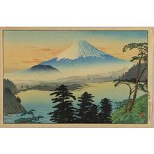 Shotei Takahashi: Lake Motosu - Japanese Art Open Database