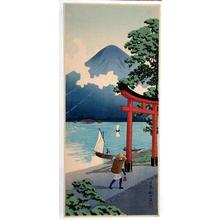 Shotei Takahashi: Lake at Nikko - Japanese Art Open Database