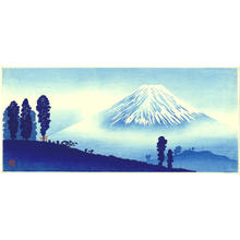 Shotei Takahashi: M14- Mt Fuji in mist- mountain pass in front- Variant - Japanese Art Open Database