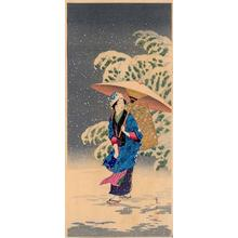 Shotei Takahashi: M35- Spring Snow - Japanese Art Open Database