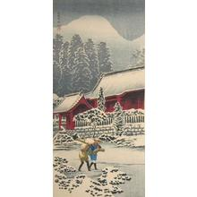 Shotei Takahashi: M52- After snow at Hakone Shrine - Japanese Art Open Database